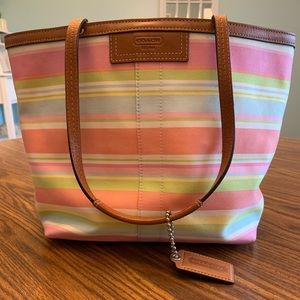 Coach - stripped tote